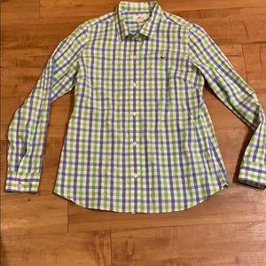 Button down VINEYARD VINES blue green Shirt 12